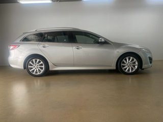 2011 Mazda 6 GH MY11 Touring Silver 5 Speed Auto Activematic Wagon.