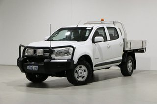 2016 Holden Colorado RG MY16 LS (4x2) White 6 Speed Manual Crew Cab Chassis.