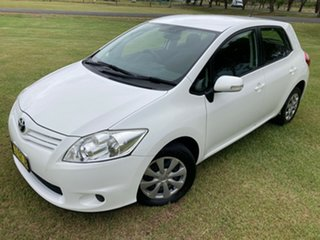 2011 Toyota Corolla ZRE152R MY11 Ascent Glacier White 4 Speed Automatic Hatchback.
