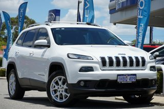 2014 Jeep Cherokee KL Longitude White 9 Speed Sports Automatic Wagon.