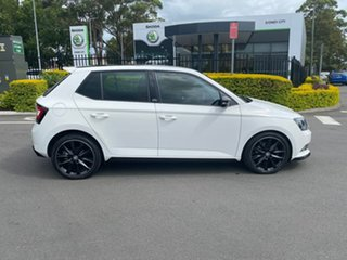 2016 Skoda Fabia NJ MY17 81TSI DSG Monte Carlo White 7 Speed Sports Automatic Dual Clutch Hatchback