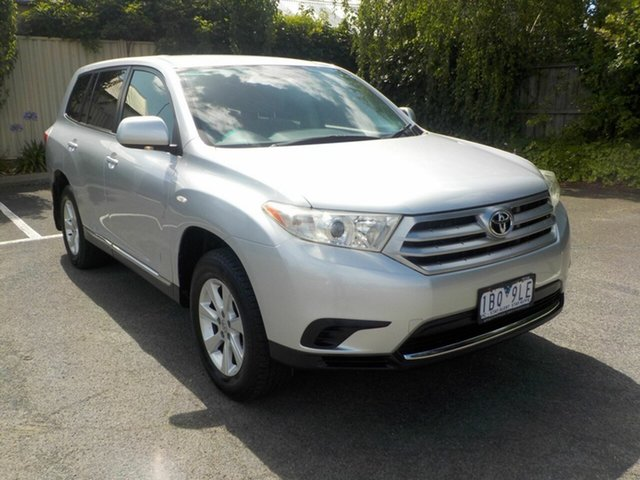 Used Toyota Kluger GSU40R MY11 Upgrade KX-R (FWD) 5 Seat Newtown, 2012 Toyota Kluger GSU40R MY11 Upgrade KX-R (FWD) 5 Seat Silver 5 Speed Automatic Wagon