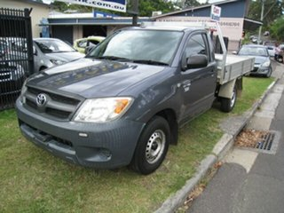 2008 Toyota Hilux TGN16R 07 Upgrade Workmate Grey 5 Speed Manual Cab Chassis.