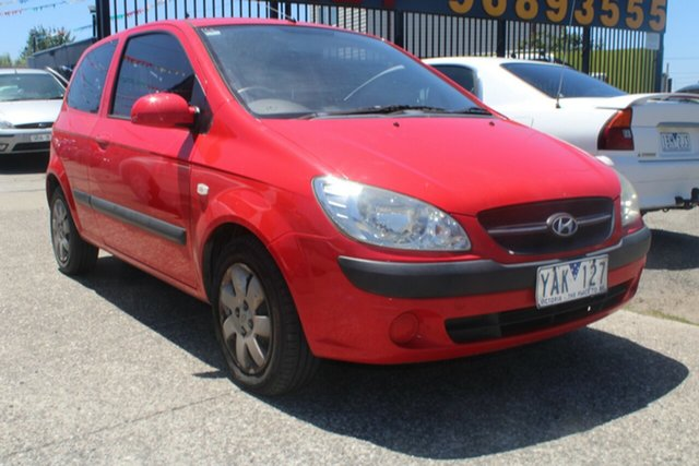 Used Hyundai Getz TB MY09 S West Footscray, 2009 Hyundai Getz TB MY09 S Red 4 Speed Automatic Hatchback