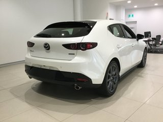 2019 Mazda 3 BP2HL6 G25 SKYACTIV-MT Evolve Snowflake White 6 Speed Manual Hatchback.
