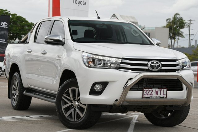 Pre-Owned Toyota Hilux GUN126R SR5 Double Cab Albion, 2016 Toyota Hilux GUN126R SR5 Double Cab Glacier White 6 Speed Manual Utility