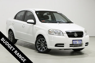 2009 Holden Barina TK MY09 White 4 Speed Automatic Sedan.