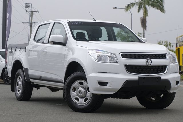 Used Holden Colorado RG MY16 LS Crew Cab Rocklea, 2015 Holden Colorado RG MY16 LS Crew Cab Summit White 6 Speed Manual Utility