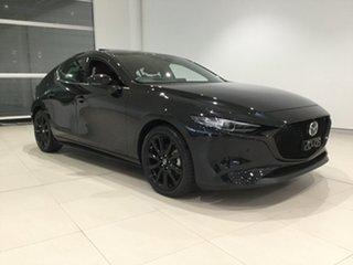 2019 Mazda 3 BP2HL6 G25 SKYACTIV-MT Astina Jet Black 6 Speed Manual Hatchback.
