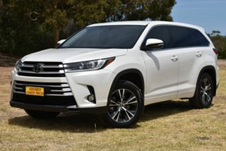 2018 Toyota Kluger GSU55R GX AWD White 8 Speed Sports Automatic Wagon.