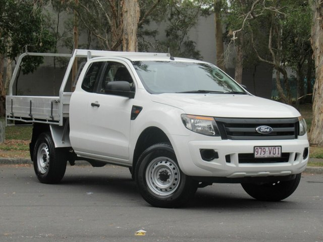 Used Ford Ranger PX XL Hi-Rider, 2015 Ford Ranger PX XL Hi-Rider White 6 Speed Sports Automatic Cab Chassis