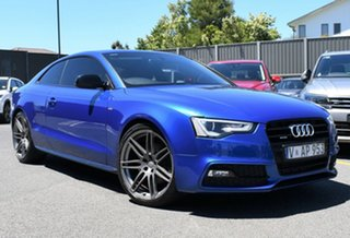 2014 Audi A5 8T MY14 S Tronic Quattro Blue 7 Speed Sports Automatic Dual Clutch Coupe.