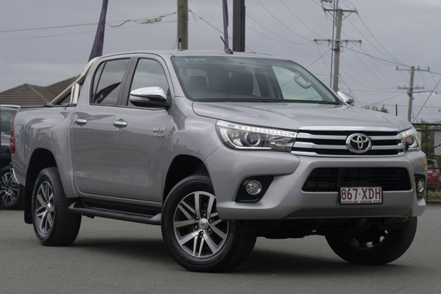 Used Toyota Hilux GUN126R SR5 Double Cab Rocklea, 2017 Toyota Hilux GUN126R SR5 Double Cab Silver Metallic 6 Speed Sports Automatic Utility