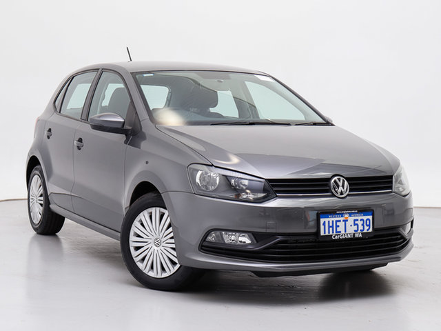 Used Volkswagen Polo 6R MY16 81 TSI Comfortline, 2016 Volkswagen Polo 6R MY16 81 TSI Comfortline Grey 7 Speed Auto Direct Shift Hatchback