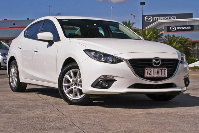 Used Mazda 3 BM5278 Touring SKYACTIV-Drive Mount Gravatt, 2015 Mazda 3 BM5278 Touring SKYACTIV-Drive White 6 Speed Sports Automatic Sedan
