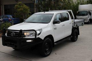 2017 Toyota Hilux GUN126R SR Double Cab Glacier 6 speed Automatic Cab Chassis.