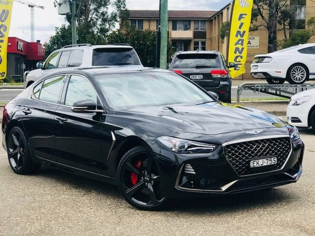 Used Genesis G70 IK MY19 Ultimate Liverpool, 2018 Genesis G70 IK MY19 Ultimate Black 8 Speed Sports Automatic Sedan