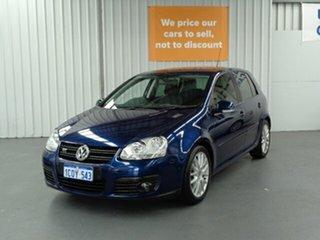 2007 Volkswagen Golf V MY07 GT DSG Blue 6 Speed Sports Automatic Dual Clutch Hatchback.