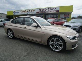 2015 BMW 3 Series F30 LCI 320i Sport Line Gold 8 Speed Sports Automatic Sedan.