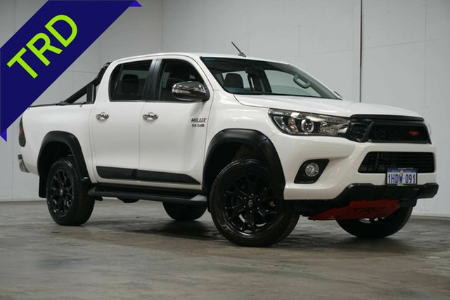 Used Toyota Hilux GUN126R SR5 Double Cab Welshpool, 2017 Toyota Hilux GUN126R SR5 Double Cab White 6 Speed Sports Automatic Utility