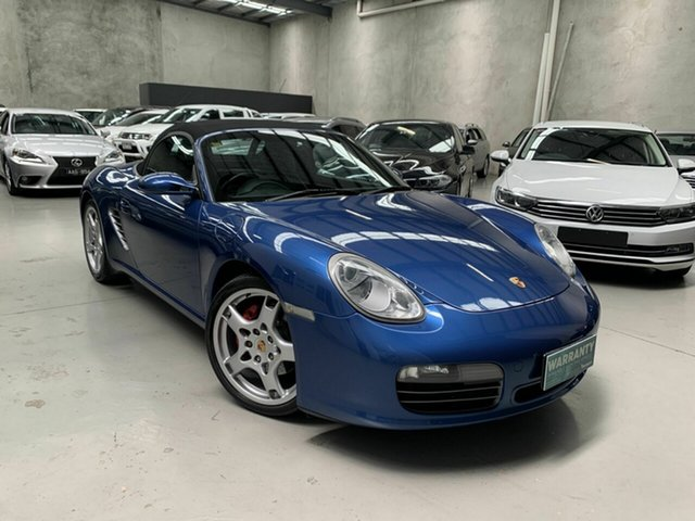 Used Porsche Boxster 987 MY05 S Coburg North, 2005 Porsche Boxster 987 MY05 S Blue 6 Speed Manual Convertible