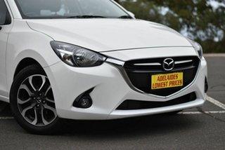 2015 Mazda 2 DJ2HA6 Genki SKYACTIV-MT White 6 Speed Manual Hatchback