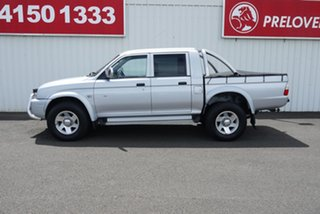 2005 Mitsubishi Triton MK MY05.5 GLX-R Double Cab Silver 5 Speed Manual Utility