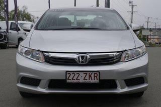 2012 Honda Civic 9th Gen VTi-L Alabaster Silver 5 Speed Sports Automatic Sedan