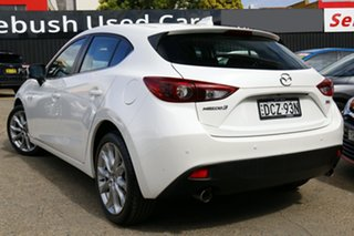 2016 Mazda 3 BM5438 SP25 SKYACTIV-Drive GT White Pearl 6 Speed Sports Automatic Hatchback.