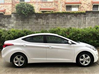 2012 Hyundai Elantra MD Elite Creamy White 6 Speed Sports Automatic Sedan.