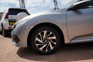 2016 Honda Civic MY16 VTi-S Silver Continuous Variable Sedan.