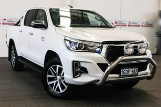 2018 Toyota Hilux GUN126R MY19 SR5 (4x4) Crystal Pearl 6 Speed Automatic Double Cab Pick Up.
