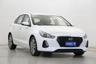 2019 Hyundai i30 PD2 MY20 Active Polar White 6 Speed Manual Hatchback.
