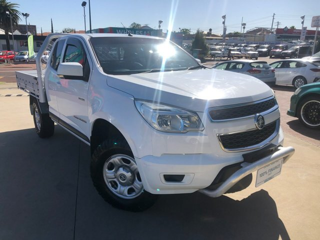 Used Holden Colorado RG MY14 LX (4x4) Victoria Park, 2013 Holden Colorado RG MY14 LX (4x4) White 6 Speed Automatic Space Cab Chassis