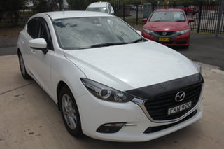2018 Mazda 3 BN5478 Maxx SKYACTIV-Drive Sport White 6 Speed Sports Automatic Hatchback.