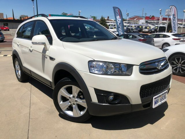 Used Holden Captiva CG Series II 7 AWD CX Victoria Park, 2011 Holden Captiva CG Series II 7 AWD CX White 6 Speed Sports Automatic Wagon