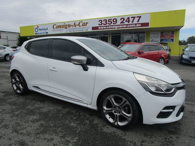 Used Renault Clio IV B98 GT EDC Kedron, 2014 Renault Clio IV B98 GT EDC White 6 Speed Sports Automatic Dual Clutch Hatchback