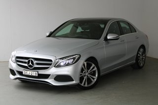 2015 Mercedes-Benz C-Class W205 806MY C200 7G-Tronic + Silver 7 Speed Sports Automatic Sedan.
