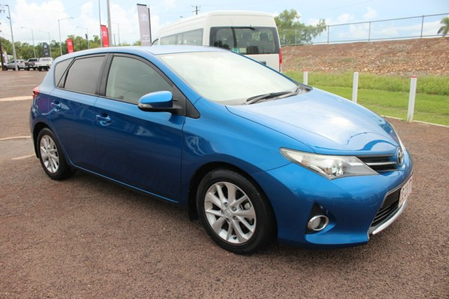 Pre-Owned Toyota Corolla ZRE182R Ascent Sport Darwin, 2013 Toyota Corolla ZRE182R Ascent Sport Caribbean Blue 6 Speed Manual Hatchback