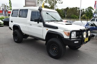 2012 Toyota Landcruiser VDJ78R MY13 Workmate Troopcarrier White 5 Speed Manual Wagon