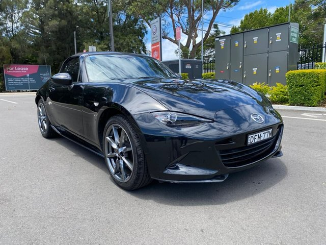 Used Mazda MX-5 ND GT SKYACTIV-MT Botany, 2016 Mazda MX-5 ND GT SKYACTIV-MT Black 6 Speed Manual Roadster