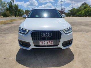 2013 Audi Q3 8U MY14 TFSI S Tronic Glacier White 6 Speed Sports Automatic Dual Clutch Wagon.