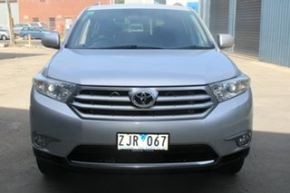2012 Toyota Kluger GSU40R MY11 Upgrade Altitude (FWD) 7 Seat Silver 5 Speed Automatic Wagon.