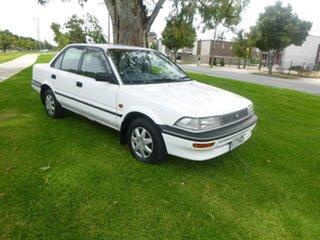 1993 Toyota Corolla AE94 CSi White 4 Speed Automatic Sedan.