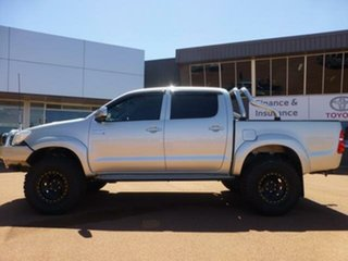 2013 Toyota Hilux KUN26R MY12 SR5 (4x4) Sterling Silver 4 Speed Automatic Dual Cab Pick-up.