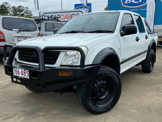2004 Holden Rodeo RA LX Crew Cab 4x2 White 4 Speed Automatic Utility.