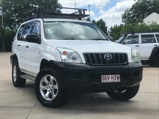2004 Toyota Landcruiser Prado KZJ120R GX (4x4) White 4 Speed Automatic Wagon.