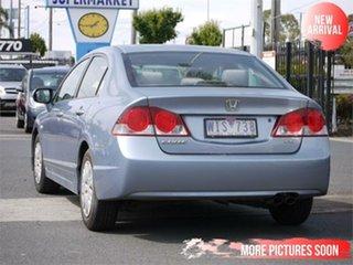 2008 Honda Civic 8th Gen MY08 VTi Blue 5 Speed Manual Sedan.