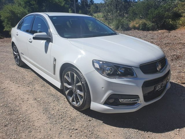 Used Holden Commodore VF SS V Geelong, 2015 Holden Commodore VF SS V White Sports Automatic Sedan