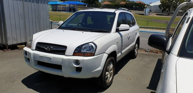 Used Hyundai Tucson JM MY09 City SX Mount Gravatt, 2009 Hyundai Tucson JM MY09 City SX White 4 Speed Sports Automatic Wagon